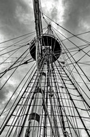 Mainmast and Shrouds Black and White
